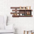 壁掛け収納シリーズ 天然木桐材 ディスプレイラック (フック付き) 4段|取付簡単 木目 ウォールシェルフ ウォールラック 壁面 リビング 寝室 子供部屋 飾り棚