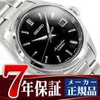 SEIKO MECHANICAL セイコー メカニカル メンズ自動巻腕時計 ブラックダイアル×シルバーステンレスベルト SARB033 正規品 ネコポス不可