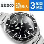 逆輸入 SEIKO セイコー クロノグラフ キネティック メンズ 腕時計 ブラックダイアル ステンレスベルト SKA747P1