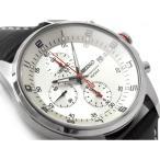 セイコー クロノグラフ搭載モデル デイデイトカレンダー メンズ 腕時計 シルバーダイアル ブラックレザーベルト SNDC87P2 ネコポス不可