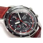 正規品 逆輸入 SEIKO セイコー クォーツ 高速クロノグラフ メンズ 腕時計 ブラックダイアル ブラウン レザーベルト SNDF45P1【ネコポス不可】