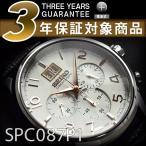 セイコー クロノグラフ 逆輸入SEIKO セイコー クロノグラフ メンズ腕時計 ギョーシェ彫り ホワイト×ローズゴールドダイアル ブラック SPC087P1【ネコポス不可】