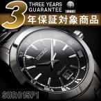 逆輸入SEIKO Premier セイコー プルミエ ビッグデイト搭載 メンズ 腕時計 シルバー×ブラックダイアル シルバーステンレスベルト SUR015P1【ネコポス不可】