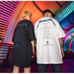 街頭hiphop カップル ペアルックTシャツ 夏 レーザーお揃い ヒップホップ 半袖ペアTシャツ メンズ レディースoversizeゆったり 大きい