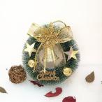 全品ミニ松葉クリスマスリース ドア飾りリボン クリスマス飾り 玄関飾り おしゃれ 20cm壁掛け店舗用法人用christmas