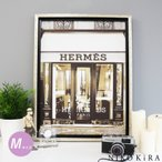 アート パネル エルメス HERMES ゴールド デザイナー エントランス ショップ 玄関 アート ブランド パネル アート フレーム 北欧 ポスター キャンバス M