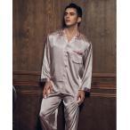 パジャマ 高級シルクパジャマ 絹風合いパジャマ メンズパジャマ パジャマ上下2枚セット 新作nn91