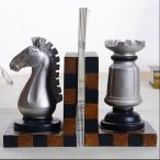 チェス駒 ブックエンド 置物 オブジェ インテリア 雑貨 置き物 誕生日 プレゼント プチギフト 北欧アンティーク おしゃれ 国内初登場