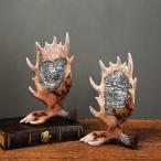鹿の角 置物 オブジェ インテリア 雑貨 置き物 誕生日 プレゼント プチギフト 北欧アンティーク おしゃれ 国内初登場