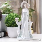 陶器製 お姫様 人形 西洋陶器 北欧磁器 置物 TC12