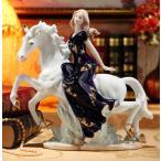 陶器 置物 西洋陶器 北欧磁器 陶器製人形 お姫様 陶器人形 陶器置物 洋風 TC25