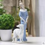 陶器 置物 西洋陶器 北欧磁器 陶器製人形 お姫様 人形 陶器置物 洋風 TC4