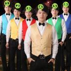 【11色 】メンズ ベスト ヒップホップ ジャズ衣装 大人ダンスウェア 切り替え 司会者 写真撮影 音楽会 発表会 ステージ 司会者 男性用 パーティー
