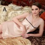 Yahoo!成宇合同会社婦人服 ワンピース ランジェリー ルームウェア 寝巻き バスローブ 部屋着 女性 寝間着 絹パジャマ シルクワンピース サラサラ涼しい  キャミソール インナー