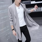 韓国風 紳士服 長袖 ロングジャケット(春物 夏物 秋物)メンズ アウター 無地 アウター 大きいサイズ カジュアル 無地 スリム ロング トップス 羽織り