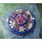 花ギフト フラワーケーキ ブルー紫系L