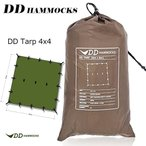 DD Tarp タープ 4X4 使いやすい 正方形 DDhammocks社製 (Coyote brown)