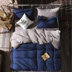 ベッドカバー セミダブル 4点セット 掛け布団カバー フラットシーツ ピロケース 洋式 寝具 インテリア