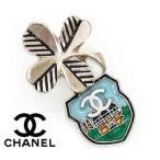 CHANEL シャネル ピンバッジ ピンブローチ CCココマーク シルバー×マルチカラー A87099