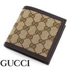 GUCCI グッチ 150413 KY9LN 9903 アウトレット オリジナルGG GGキャンバス 小銭入れ付 二つ折り財布 ベージュ×ブラウン