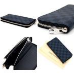 LOUIS VUITTON ルイヴィトン N62240 メンズ用財布 ダミエコバルト ジッピーウォレット ベルティカル