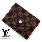 LOUIS VUITTON ルイヴィトン N61700 ダミエ ポルトフォイユ・ヴィクトリーヌ 小銭入れ付き 二つ折り財布 ローズ・バレリーヌ