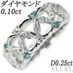 Pt900 ダイヤモンド リング TB0.10ct D0.25ct SELBY