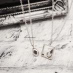 メンズペアネックレス Fiss-homme- 67-1835-1836 男性ペア ダイヤモンド ブラックダイヤ 指輪 お揃い 無料刻印 プレゼント 記念日 誕生日 ペア カップル