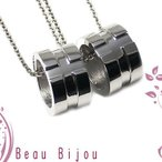ペアネックレス ステンレス カップル アレルギー対応 人気 ブランド Beau Bijou (BB-MS-020P)