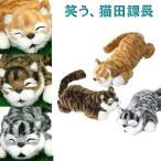 笑う猫 イエロー グレー こげ茶 猫山さん 猫田課長 TAJ00053 ぬいぐるみ