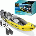 INTEX エクスプローラー K2 カヤック インテックス社 2人乗り ボート マリンスポーツ アウトドア