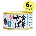 木の屋 金華さば水煮 缶詰 彩 170g 6個セット サバ缶