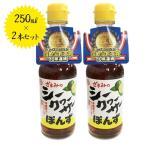 座間味こんぶのシークヮーサーぽんず 250ml×2本セット 沖縄県産 国産 シークワーサー ポン酢 調味料