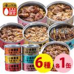 吉野家 缶飯 6種類バラエティセット 6缶セット 牛丼 豚丼 焼鳥丼 焼肉牛丼 豚しょうが焼 焼塩さば