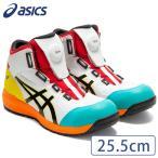 asics アシックス 安全靴 ウィンジョブ BOA CP304 ホワイト/ブラック 25.5cm 樹脂先芯 限定カラー ハイカット セーフティーシューズ おしゃれ メンズ 作業用