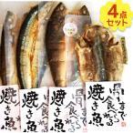 干物 無添加 骨まで食べられる焼き魚 人気の4点セット あじ ほっけ かます さんま ギフト 電子レンジ対応 湯煎 真空パック 国産品