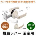 ドアノブ レバーハンドル 浴室用 日中製作所 樹脂レバー 間仕切錠 バックセット 90 防犯 種類