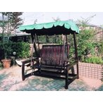 チーク デラックススイングラブベンチ ガーデンファニチャー ガーデンチェア ガーデンブランコ 木製 家具 椅子 イス テラス 庭 バルコニー diy 通販