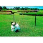 ドッグランポール W1500×H900〜1000 ドッグラン ペット 犬 フェンス アイアン アンティークスタンド 庭 屋外 diy 通販