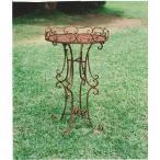 テーブルスタンド 丸型 直径460×H780 ガーデンテーブル フラワースタンド アイアン家具 鉄 ガーデニング雑貨 花台 鉢 園芸 玄関 庭 バルコニー テラス 屋外