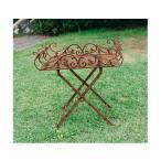 折り畳みテーブルスタンド 角型 smtb-kd W650×H670 ガーデンテーブル アイアン家具 鉄 折り畳み 折りたたみ 園芸 庭 バルコニー テラス 屋外 diy 通販