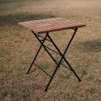 折り畳みアイアンチークテーブル 無垢 テーブル 家具 チーク材 おしゃれ 折りたたみ コンパクト 木 高さ70 激安 ベランダ ナチュラル 完成品 アイアン 正方形