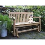 ジュリアロッキングベンチ W1200×H870×D600 ガーデンチェア ロッキングチェア ガーデンブランコ 木製 家具 椅子 イス テラス 庭 バルコニー diy 通販