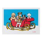 クリスマスカード メッセージカード 犬 Dogs in Sleigh マークテトロ サンタクロース