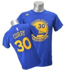 NBA ウォリアーズ ステファン・カリー Tシャツ ブルー アディダス NET NUMBER Tシャツ