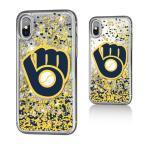 お取り寄せ MLB ブリュワーズ iPhone X ケース/カバー スパークル グリッター
