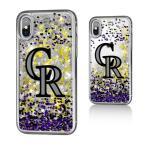 お取り寄せ MLB ロッキーズ iPhone X ケース/カバー スパークル グリッター