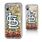 お取り寄せ MLB カージナルス iPhone X ケース/カバー スパークル グリッター