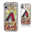 お取り寄せ MLB ダイヤモンドバックス iPhone X ケース/カバー スパークル グリッター