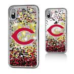 お取り寄せ MLB レッズ iPhone X ケース/カバー スパークル グリッター
